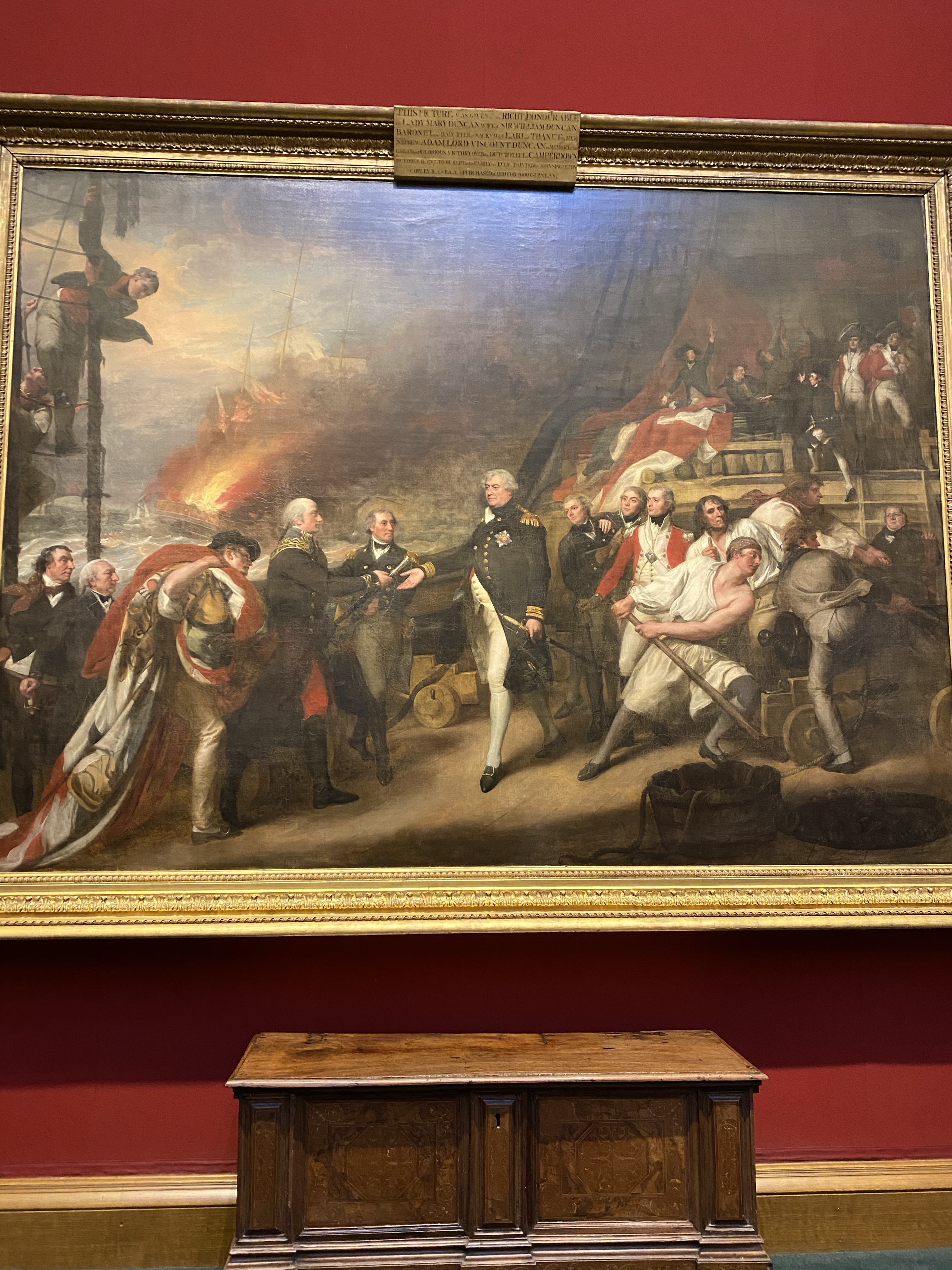 From The Scottish Royal Gallery. Portrait of Adam Duncan's victory over the Dutch allies of the French Revolutionary government in 1797.